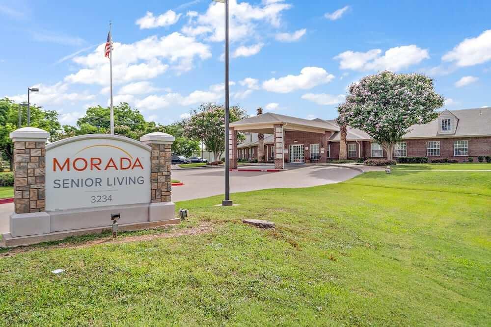 An exterior shot of Morada's front entrance.