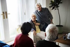 a group of seniors enjoy their senior living options in waxahachie